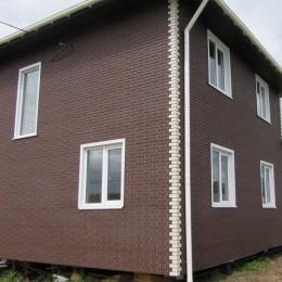 Фасадные панели Альта-Профиль Кирпич клинкерный Коричневый