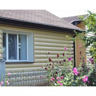 Виниловый сайдинг Альта-Профиль Blockhouse (Блок-хаус) Бежевый
