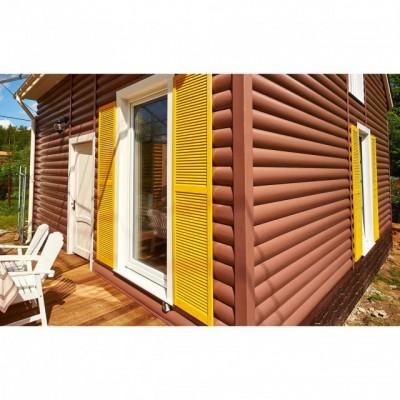 Виниловый сайдинг Blockhouse Альта-Профиль однопереломный, Красно-коричневый