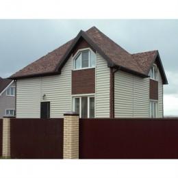 Сайдинг Блок Хаус (Blockhouse) Альта-Профиль двухпереломный Бежевый