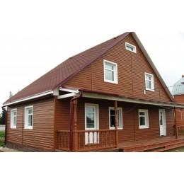 Сайдинг Блок Хаус (Blockhouse) Альта-Профиль двухпереломный Дуб светлый