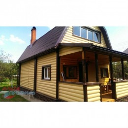 Сайдинг Блок Хаус (Blockhouse) Альта-Профиль двухпереломный Золотистый