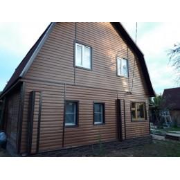Сайдинг Блок Хаус (Blockhouse) Альта-Профиль BH3 малый двухпереломный Дуб светлый