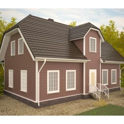 Виниловый сайдинг Альта-Профиль Блок Хаус (Blockhouse) BH3 малый Красно-коричневый