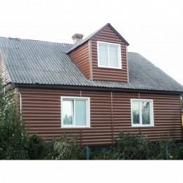 Сайдинг Блок Хаус (Blockhouse) Альта-Профиль BH3 малый двухпереломный Орех тёмный