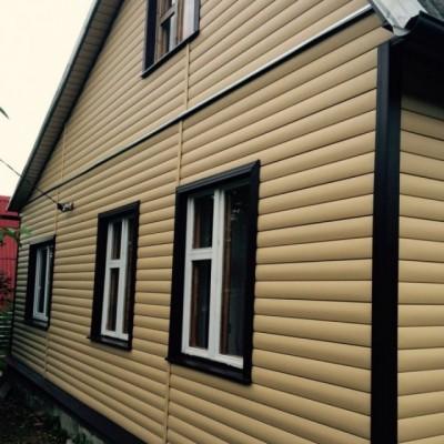Виниловый сайдинг Альта-Профиль Блок Хаус (Blockhouse) BH3 малый золотистый