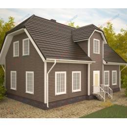Сайдинг Блок Хаус (Blockhouse) Двупереломный Орех