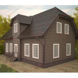 Сайдинг Блок Хаус (Blockhouse) Однопереломный Орех