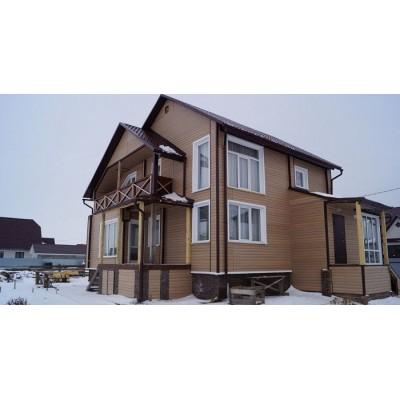 Виниловый сайдинг Tecos Блок Хаус (Blockhouse) Канадский дуб