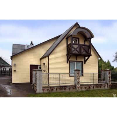 Сайдинг Ю-пласт Блок-хаус Кремовый 3,4х0,23 м