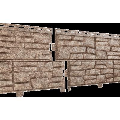 Цокольный сайдинг Ю-Пласт Stone House сланец бурый