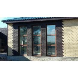 Цокольный сайдинг Ю-Пласт Stone House кирпич коричневый