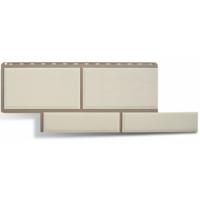 Фасадные панели Альта-Профиль Флорентийский камень Белый