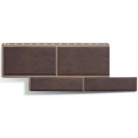 Фасадные панели Альта-Профиль Флорентийский камень Коричневый