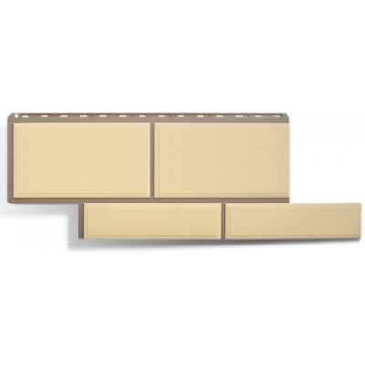 Фасадные панели Альта-Профиль Флорентийский камень Слоновая кость