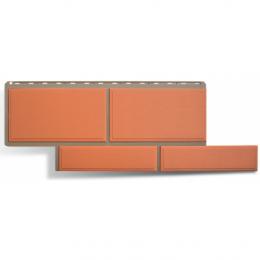 Фасадные панели Альта-Профиль Флорентийский камень Терракотовый