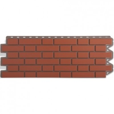Фасадные панели Альта-Профиль Кирпич клинкерный Красный