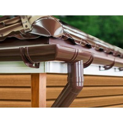 Колено трубы 45˚ ПВХ Grand Line, 87 мм, Коричневое