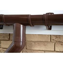 Воронка желоба ПВХ Grand Line (коричневая)