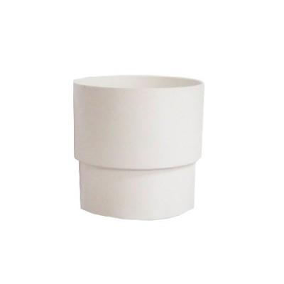Муфта (соединитель) водосточной трубы 80 мм (белая)