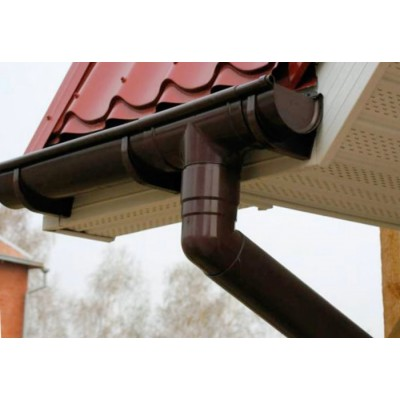 Воронка желоба центральная ПВХ Murol 80/100мм коричневая