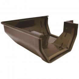 Угол 90° желоба Murol U-110 (коричневый)