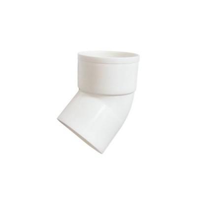 Отвод трубы 80 мм 67° (белый)