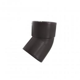 Отвод водосточной трубы 80 мм 45° (коричневый)