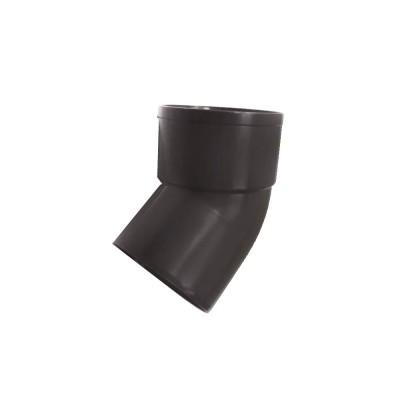 Отвод трубы 80 мм 67° (коричневый)