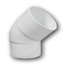 Отвод соединение (колено) водосточной трубы 80 мм 67° (белый)