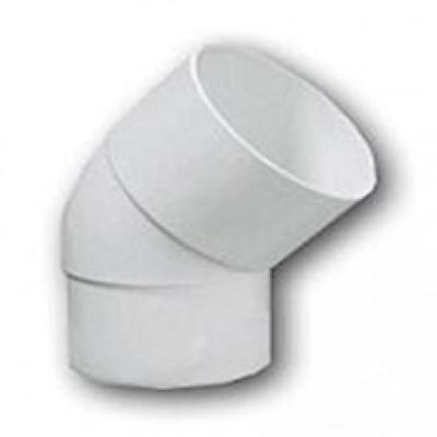 Отвод водосточной трубы Murol ПВХ 80 мм 67 град., белый