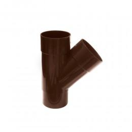 Тройник водосточной трубы 80 мм (коричневый)