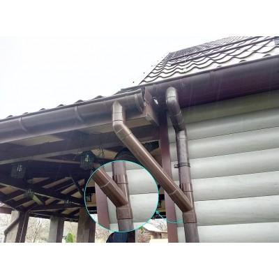 Тройник водосточной трубы Murol ПВХ 80 мм, коричневый