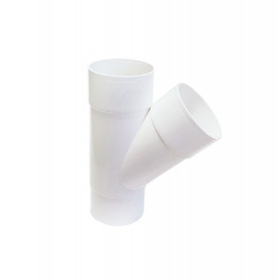 Тройник водосточной трубы 80 мм (белый)