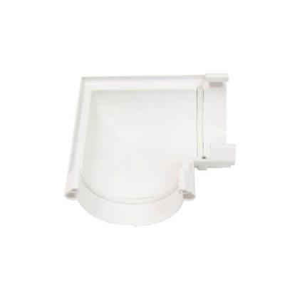 Угол желоба универсальный 90° (белый)