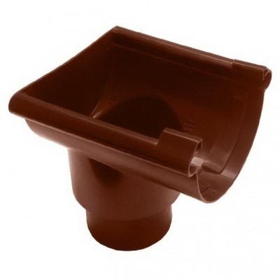 Воронка желоба торцевая ПВХ Murol 80/100мм (коричневая)